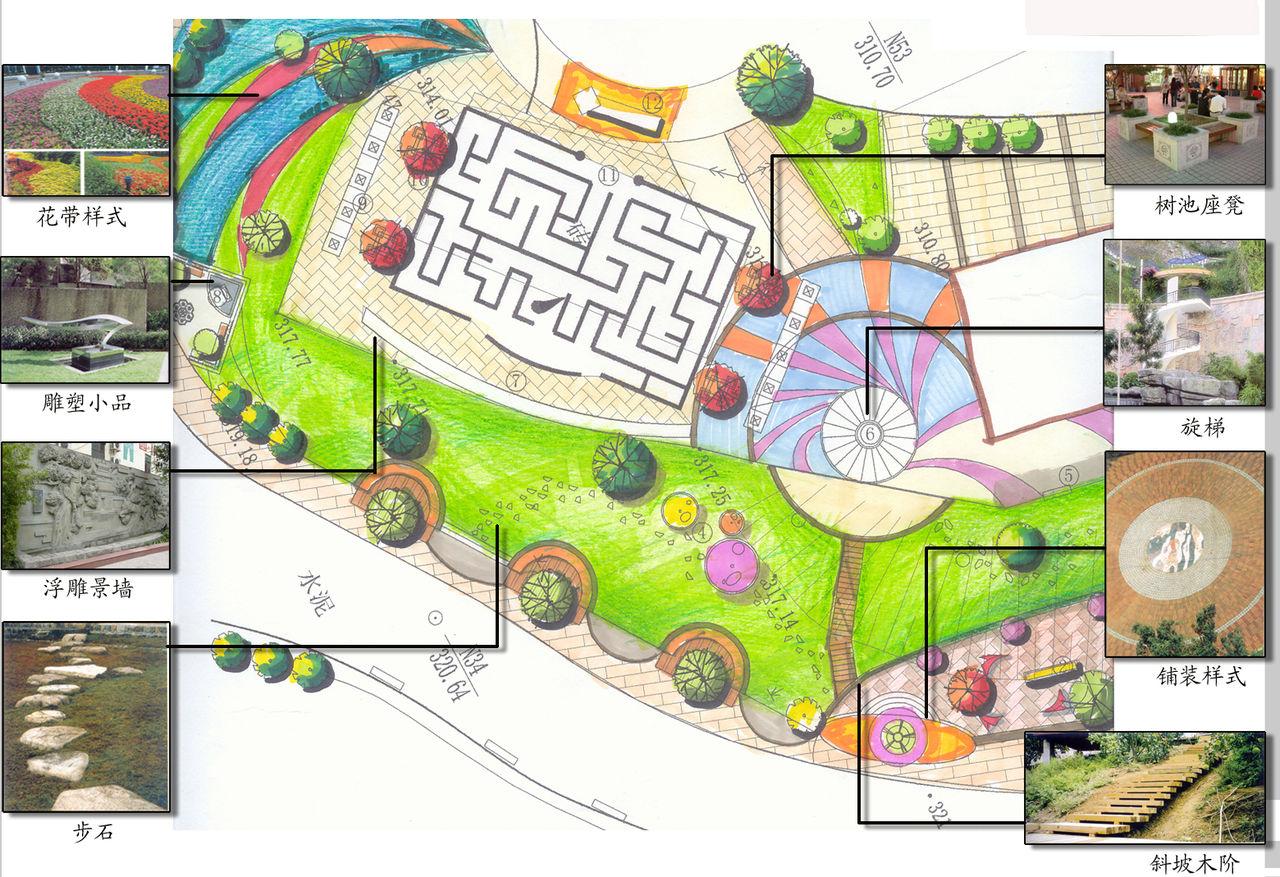 中庭景观平面图,校园景观平面图,中庭景观平面图图片