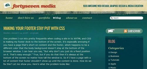 xHTML+CSS实例