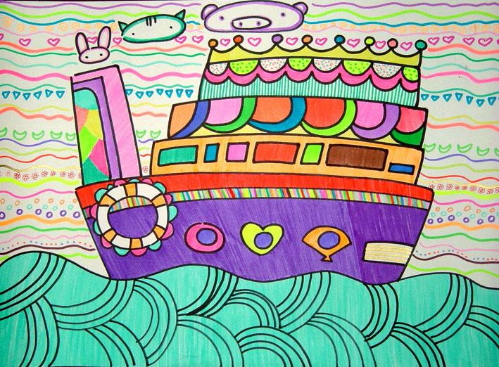 儿童画船怎么画 简笔画船的图片 简笔画大全图片