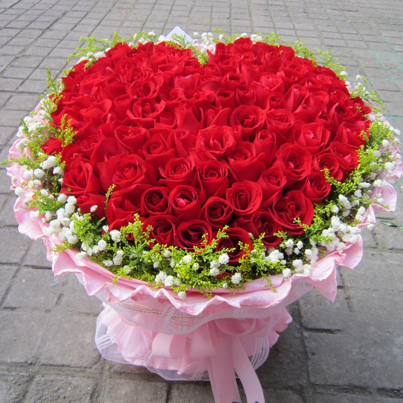 99支精美包装玫瑰花