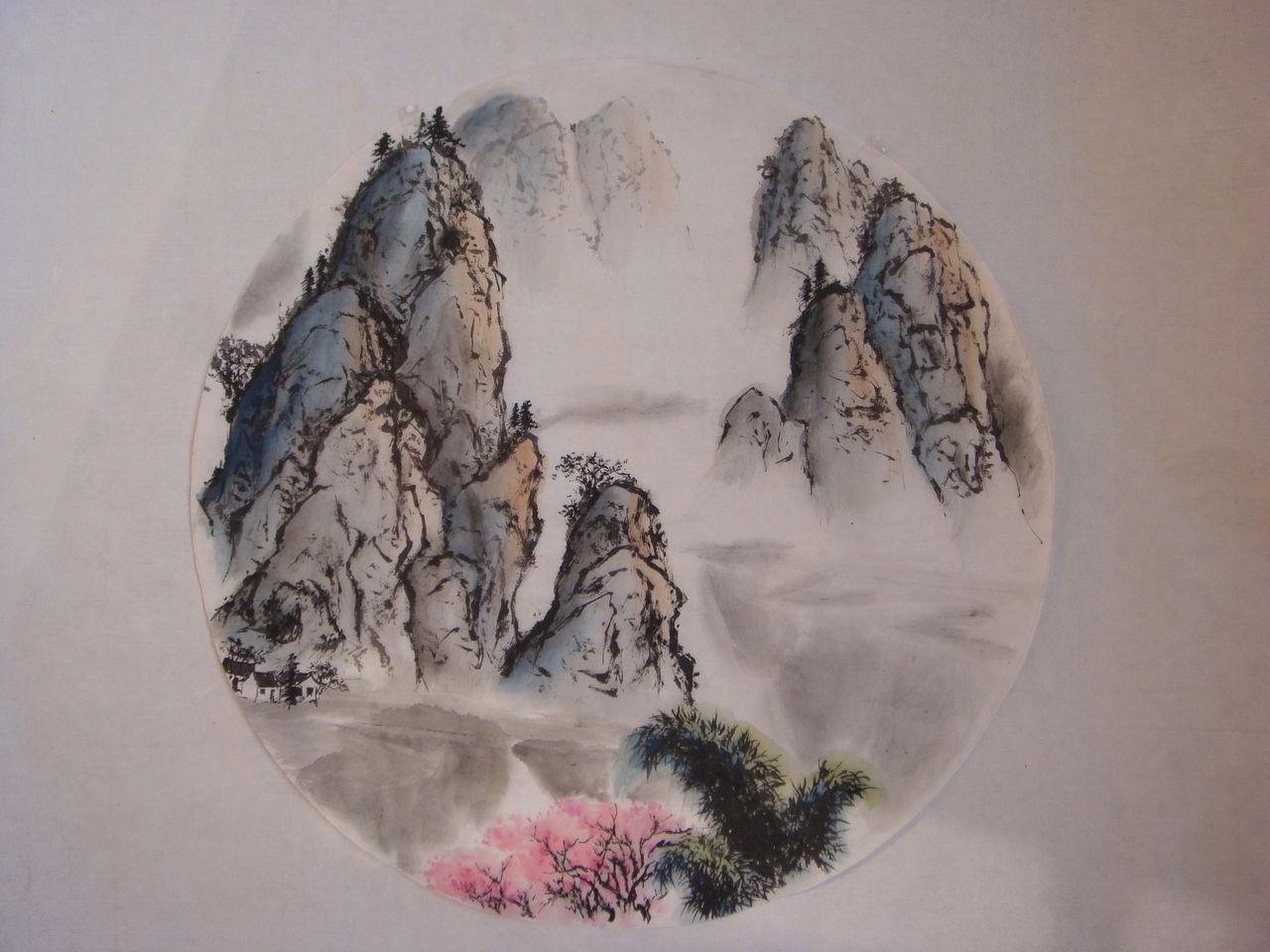 山水画纹身图片大全展示图片