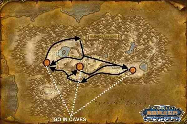 秘蓝岛采矿路线图       采矿66-125(锡矿,银矿)