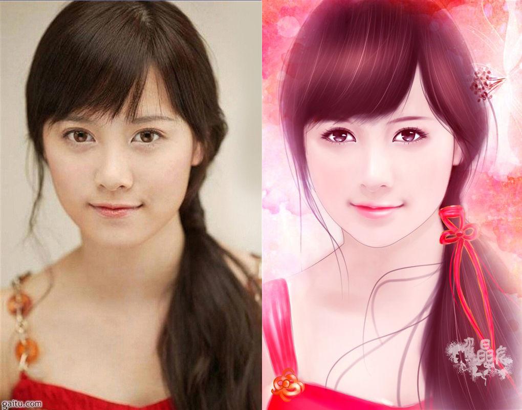 韩国唯美手绘女孩唯美中国风手绘美女韩国手绘女孩