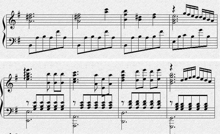 钢琴谱子 最后一小节从第二个音符开始怎么弹(降la xi