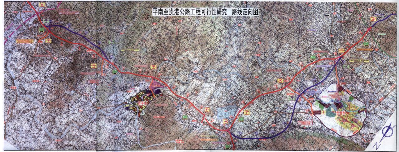 在广西规划图中看出一些未来广西和桂平的动向
