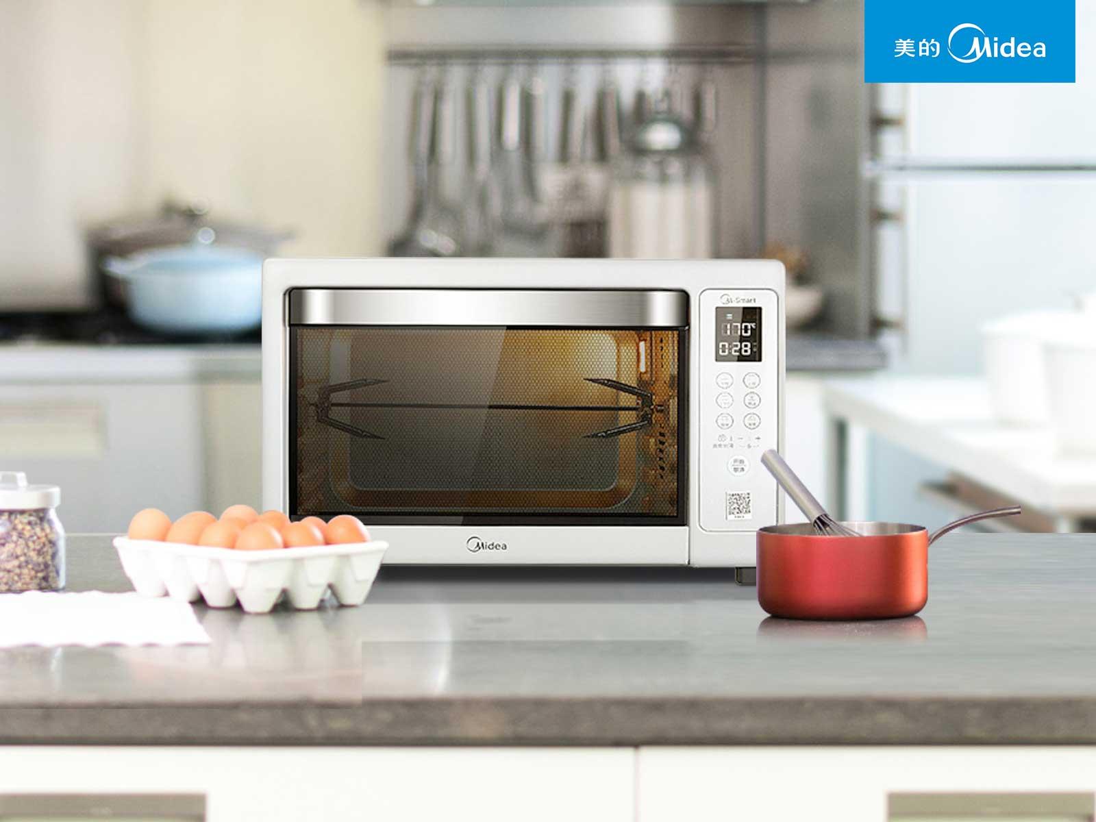 美的烤箱图片
