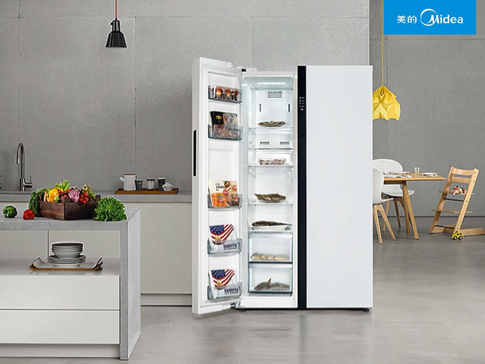 美的冰箱图片