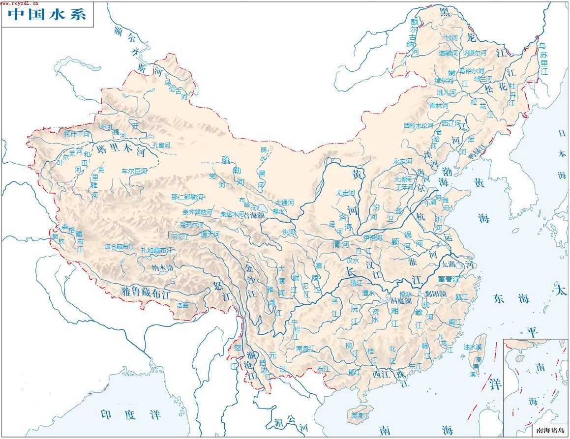 四川河流水系分布图 四川河流分布图,中国水系河流