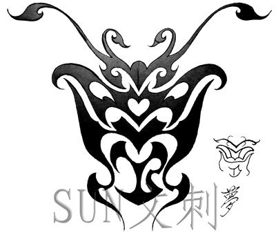 忍字繁体字纹身展示分享独具特色的vi设计公司图片