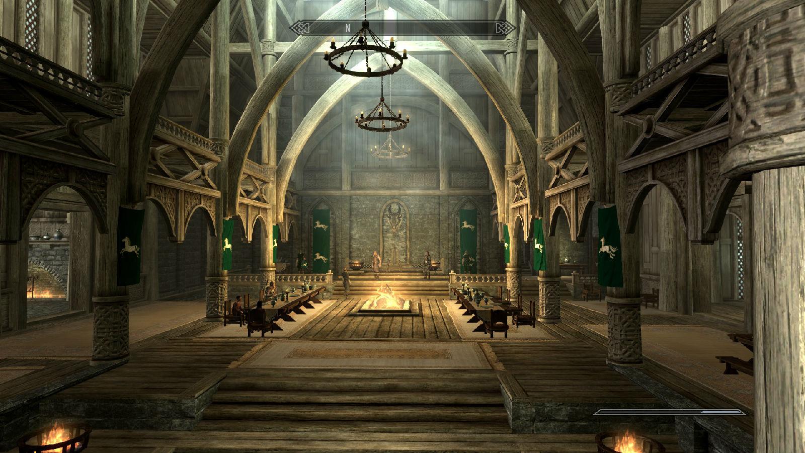 老滚5的宫殿内景图片