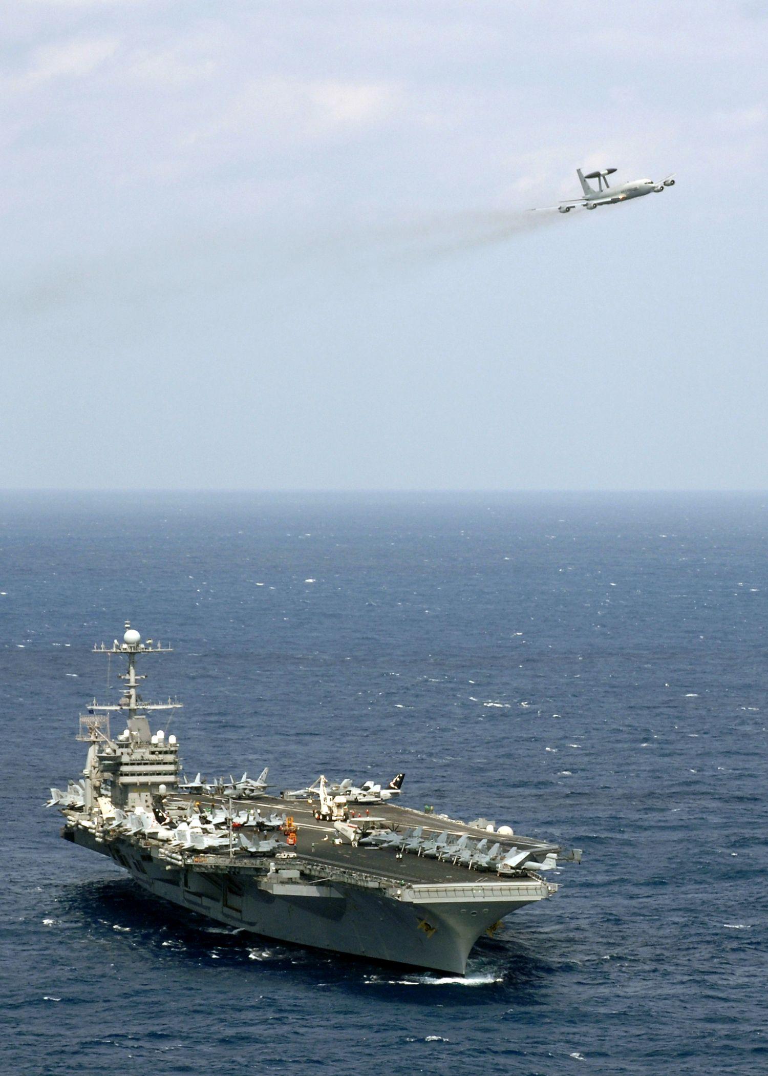 华盛顿号核动力航空母舰高清图片