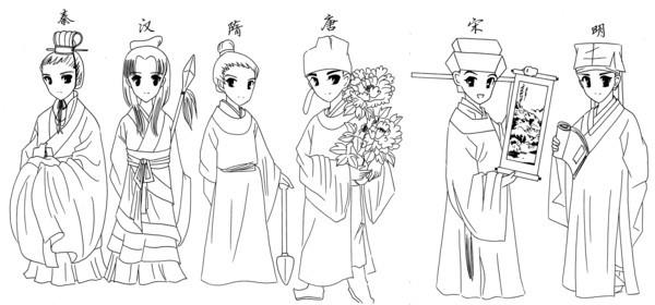 日本古代服装种类有哪些?图片
