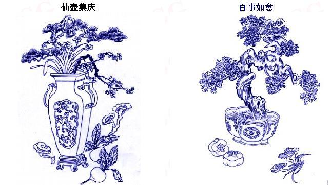 传统吉祥图案 花果草木
