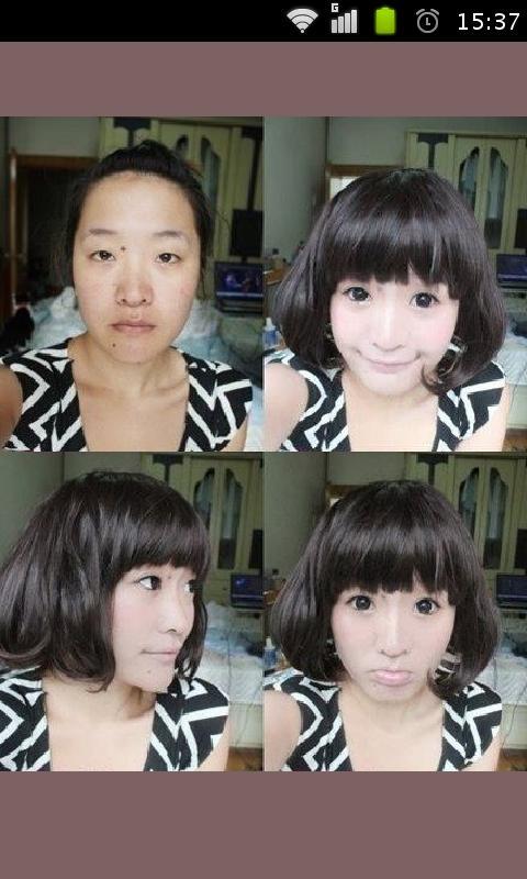 男人化妆也能变美女 吓死人化妆术亮瞎24k钛合金眼