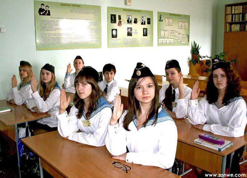 俄罗斯的气质美女军人