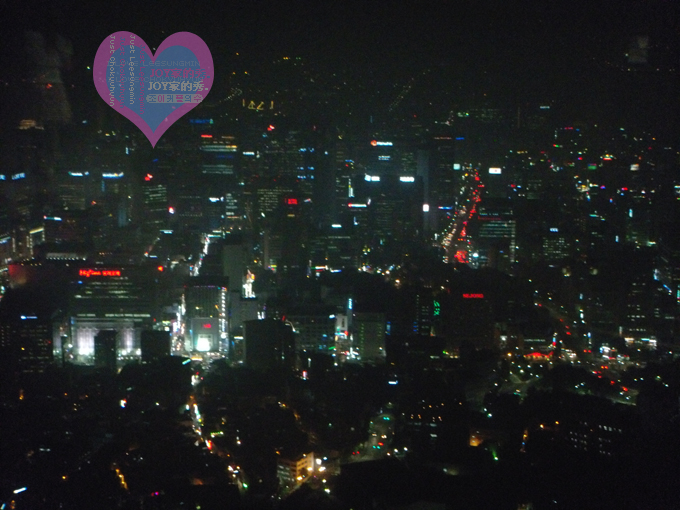 青岛/瞭望台拍的首尔夜景.很美丽.