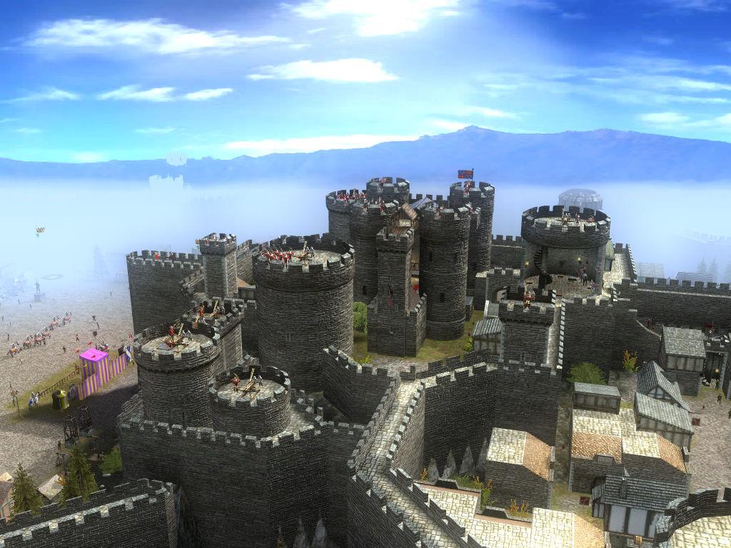 堂泻下的银光.一瞬间城堡平添了许多神圣,人间也好似天国.高清图片