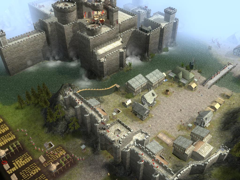 城堡的正门,依地形建筑起来的外墙,第一道防线,但并不稳固.高清图片