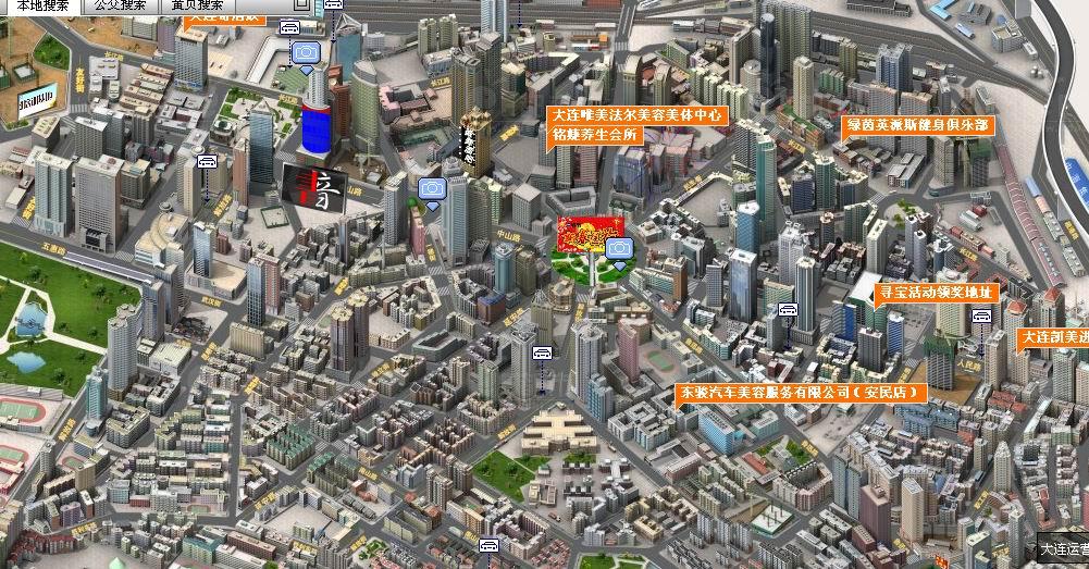 三维地图实景地图分享展示