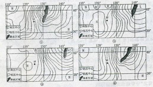 海平面气压分布图图片