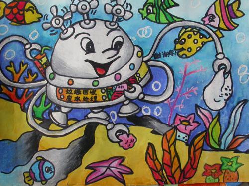 五年级上册美术图片; 五年级小学生画的画官田国小学生美劳作品相簿图片