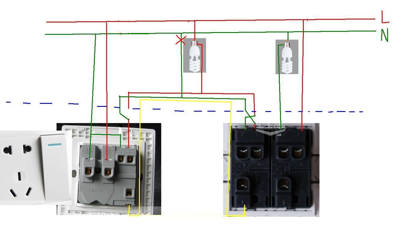 双开双控开关接线图 单开三控开关接线图 西蒙双控开关接线图图片