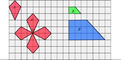 转图形A来设计一幅漂亮的图案. 2 按3 1画出图形B放大后的图形.如果