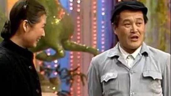 90年代的赵本山和黄晓娟,首次出演小品相亲,很经典图片