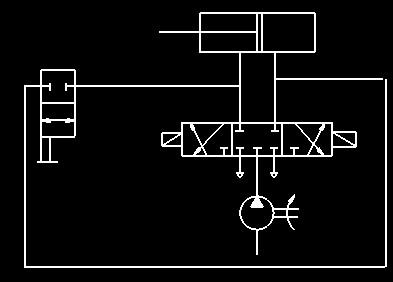 用电磁阀和位移传感器控制一个气缸往返运动图片