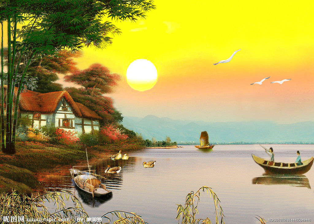 水彩笔风景画图片_水彩笔风景画内容 水彩笔风景画图片