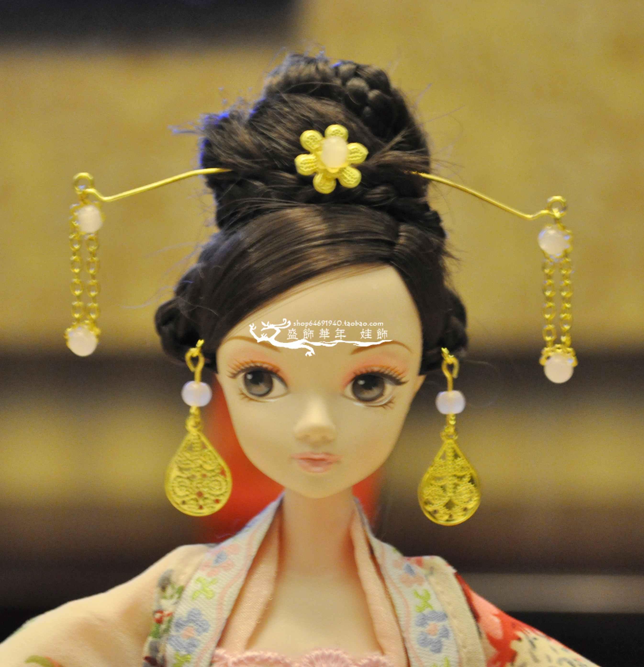 可儿娃娃头饰教程_可儿娃娃古装教程_可儿娃娃古装教程画法