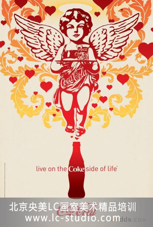北京央美lc画室_北京央美LC画室设计创意欣赏---可口可乐海报设计_央美lc吧_百度贴吧