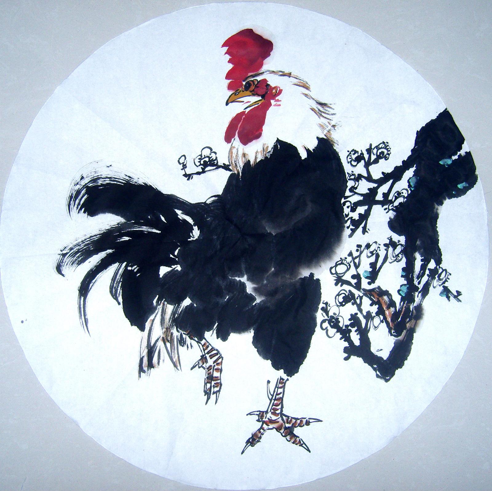 国画写意鸡图片_回复:写意画鸡!!!!!!!_国画吧_百度贴吧