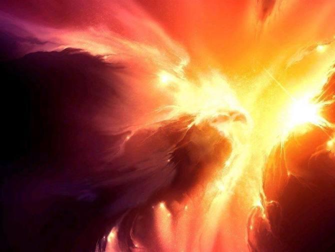 Painting Art Phoenix Fire Fantasy Digital Drawing: 凤凰涅磐 浴火重生_剑指天下的空间_百度空间