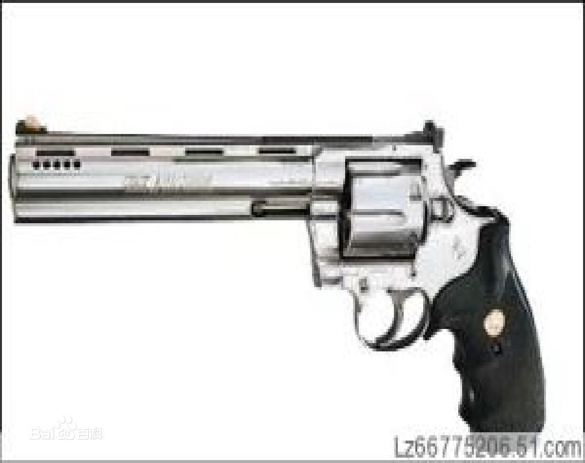 经典左轮手枪图片: 柯尔特蟒蛇型左轮手枪图片