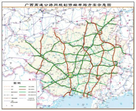 广西玉铁高速公路图_广西高速公路规划图