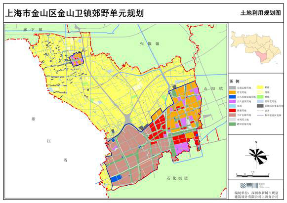 東與石化街道,山陽鎮毗連,西與浙江省平湖市為界,南與上海石化公司圖片