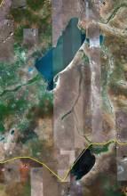 卫星上看贝尔湖