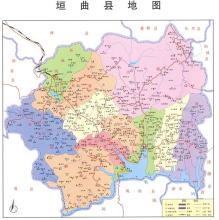 垣曲县行政地图