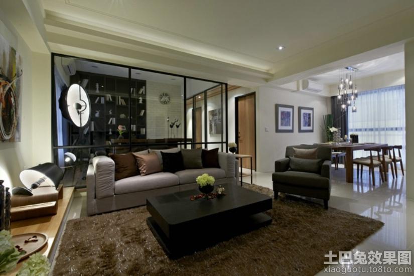 2014客厅地毯装修效果图