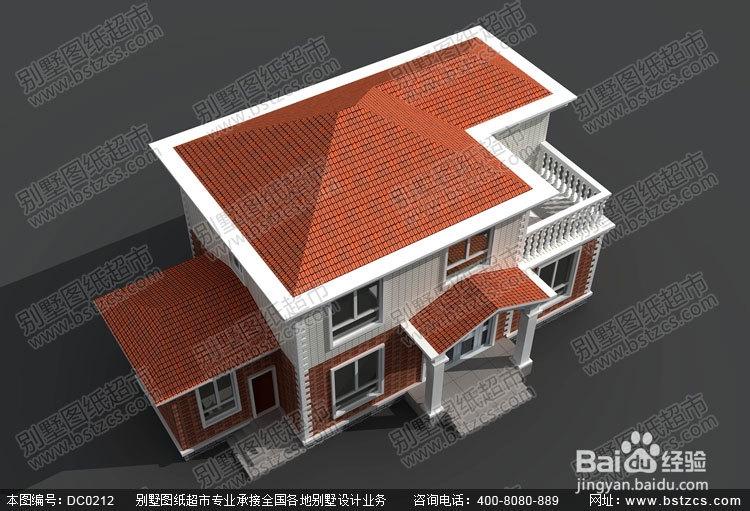 漂亮的农村二层带露台小别墅图纸及效果图