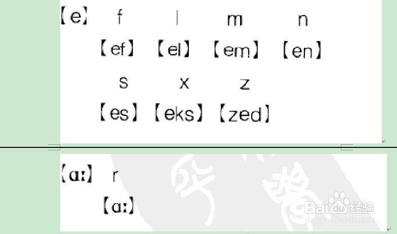 5個元音字母帶記21個輔音字母:[2]英語音標圖片