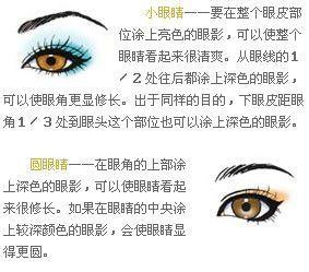 四色眼影的画法固)�_教你如何化完美眼影篇--不同眼型眼影的画法