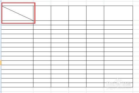 表格中的斜線怎么打字