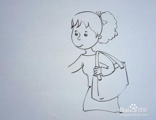 胖妈妈简笔画_儿童趣味创意画:[15]简笔画《妈妈我要抱》