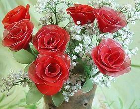 怎样制作玫瑰丝网花_丝网花的制作,红玫瑰