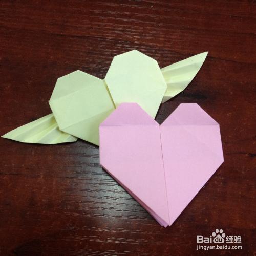 爱心折纸步骤_可爱的心——简单的爱心折纸的折法(一)_百度经验
