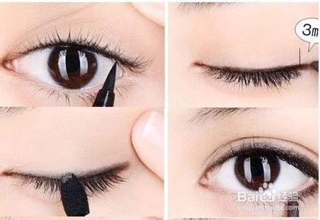 内双眼睛画眼线_内双如何画眼线图解_百度经验