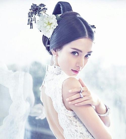 baby結婚發型,angelababy結婚照片,黃曉明和angelababy結婚照 - 七麗圖片