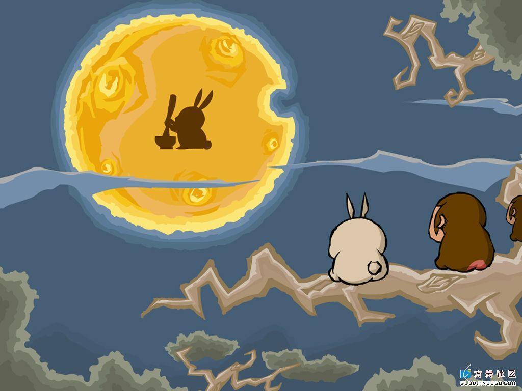 中秋节的来历配一幅一年级儿童图画_中秋节月兔要怎么画内容|中秋节月兔要怎么画图片